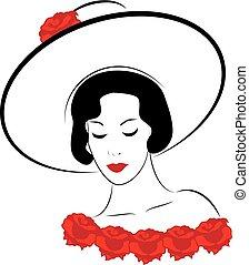 donna, cappello, 4