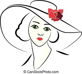 donna, cappello, 6