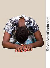 donna, cristiano, africano