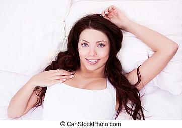donna, cuscino