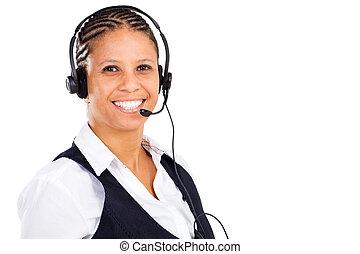 donna d'affari, americano, africano