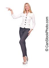 donna d'affari, donna, concetto, affari
