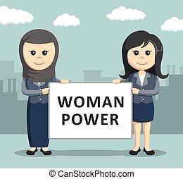donna d'affari, due, presa a terra, asse