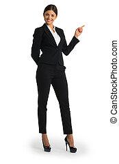 donna d'affari, indicare barretta