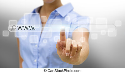donna d'affari, internetconcept