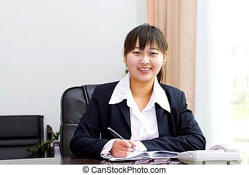 donna d'affari, lavoro, cinese