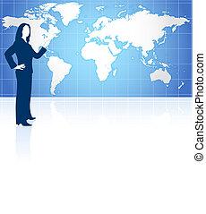 donna d'affari, mappa mondo
