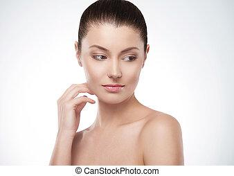 donna, delicato, bellezza, pelle