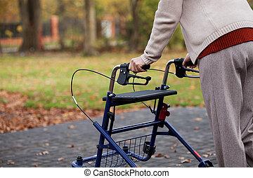 donna disabile, passeggiata