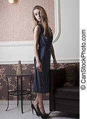 donna, elegante, sofisticato