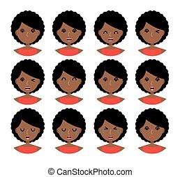 donna, espressioni facciali