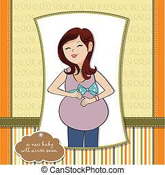donna felice, incinta
