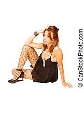 donna, floor., seduta