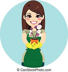 donna, giardiniere