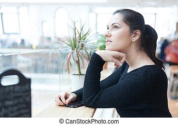 donna, giorno sognando