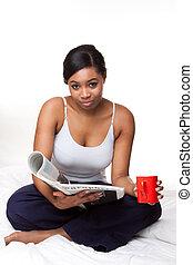 donna, giovane, africano
