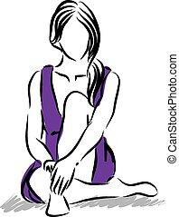 donna, illustrazione