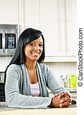 donna, in, cucina