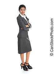 donna, indiano, affari