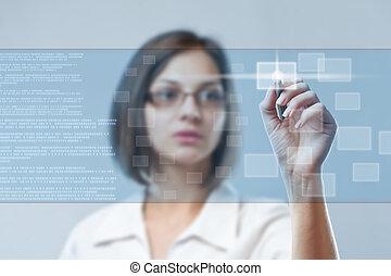 donna, lavorativo, affari