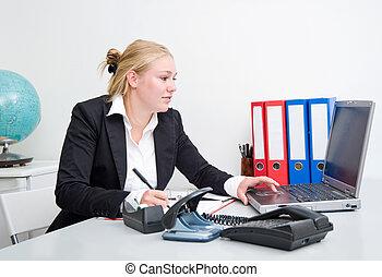 donna, lavoro, affari