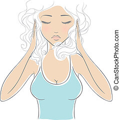 donna, mal di testa