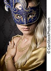 donna, maschera
