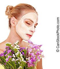 donna, mask., facciale