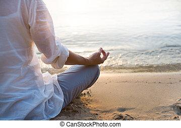 donna meditando