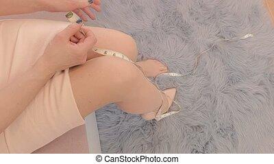 donna, misura, piedi
