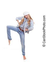donna, moda, ballo