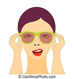 donna, occhiali da sole