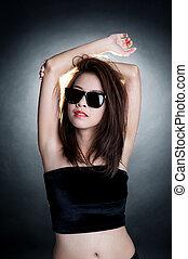 donna occhiali sole, moda, ritratto
