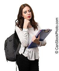 donna pensante, studente