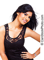 donna, proposta, indiano, attraente