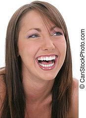 donna, ridere