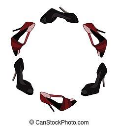 donna, scarpa, collezione