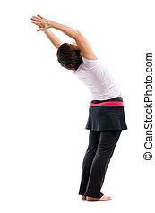 donna senior, yoga, asiatico