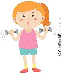 donna, sollevamento peso