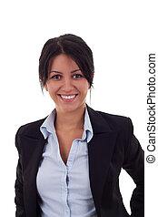 donna sorridente, affari