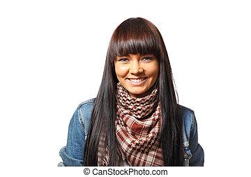 donna sorridente, giovane