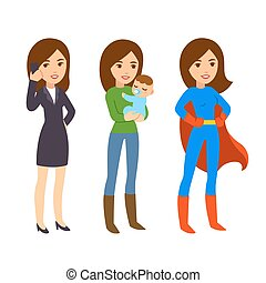 donna super, illustrazione