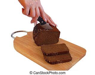 donna, taglio, bread