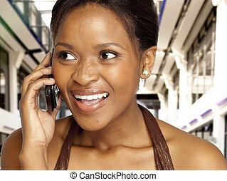 donna telefono, carino, parlante