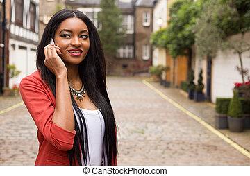 donna telefono, giovane