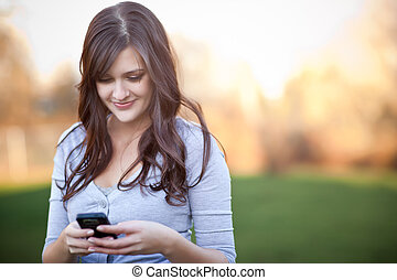 donna, texting