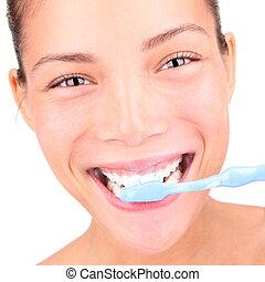 donna, toothbrushing