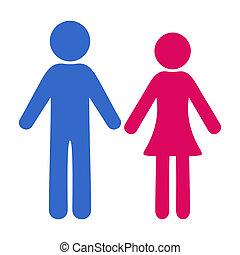 donna, uomo, icone