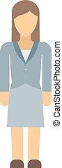 donna, vettore, silhouette, illustration., affari