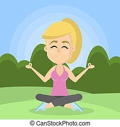donna, yoga.